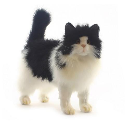 Hansa Black And White Cat Plush Toy Target