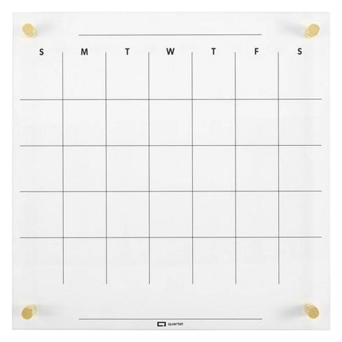 """Quartet 14"""" x 14"""" Glass Dry-Erase Calendar Board - image 1 of 4"""