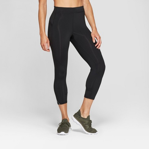 "Women's Running Mid-Rise Capri Leggings 20""- C9 Champion® Black - image 1 of 2"