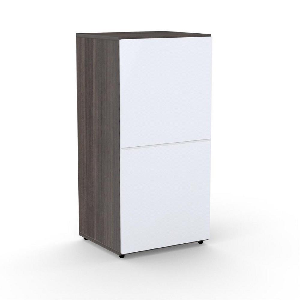 Nexera 36.75 Allure 1 Door Bookcase Black & White