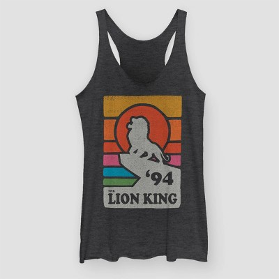 Women's Simba Vintage Pride Graphic Tank Top (Juniors') - Black Heather