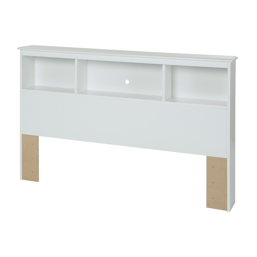 Crystal Bookcase Headboard Full Pure White - South Shore