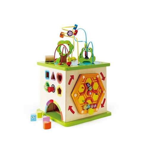 Hape Country Critters Wooden Children's Toddler Play Cube Activity Block Toy - image 1 of 4