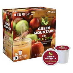 Green Mountain Naturals Hot Apple Cider, Keurig Single-Serve K-Cup Pods, 16ct
