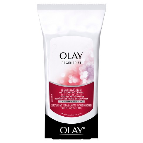 Olay Regenerist Micro-Exfoliating Wet Facial Cleansing Wipes 30 ct - image 1 of 4
