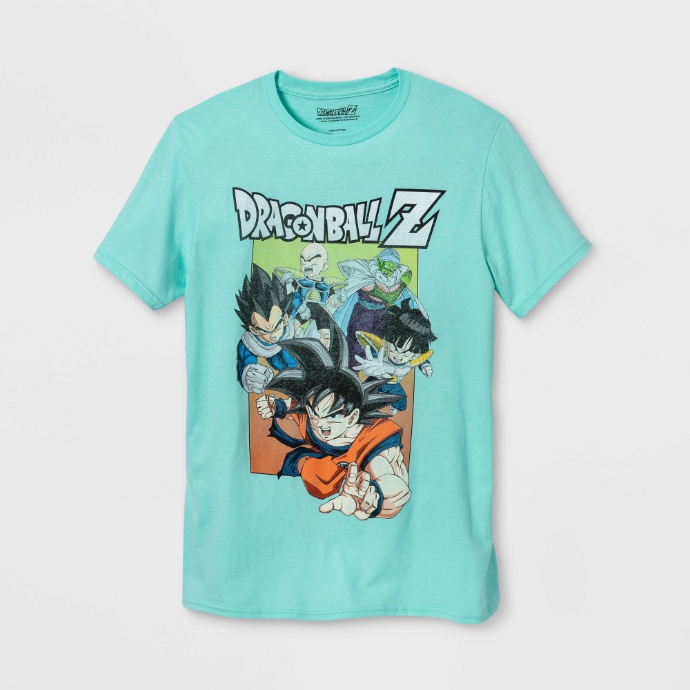 Image of Men's Dragon Ball Z Short Sleeve Graphic T-Shirt - Celadon 2XL, Men's, MultiColored
