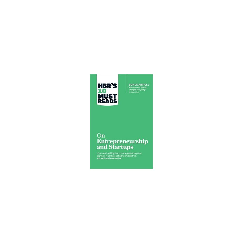 HBR's 10 Must Reads on Entrepreneurship and Startups (Paperback) (Harvard Business Review & Steve Blank