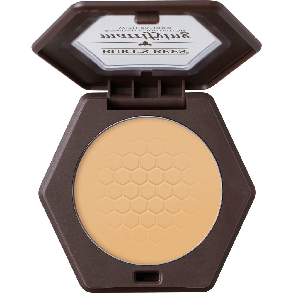 Image of Burt's Bees 100% Natural Mattifying Powder Foundation - 1115 Sand - 0.3oz, 1115 Brown