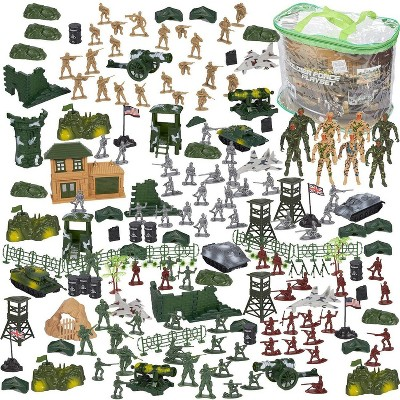 "300-Pieces Army Men Toys For Boys - Military Toy Soldiers Play Set Including 8pc 3.5"" SWAT Team Action Figures"