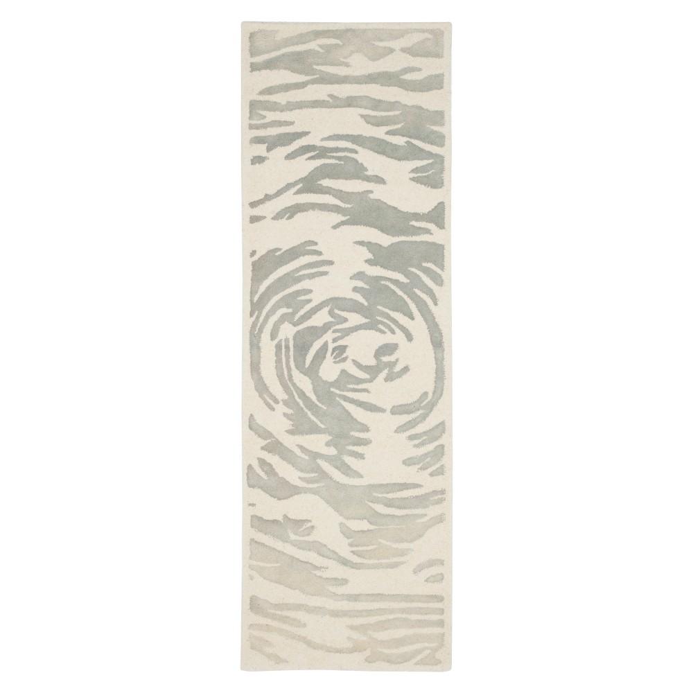 Bella Rug - Ivory/Gray - (2'3X9') - Safavieh, White