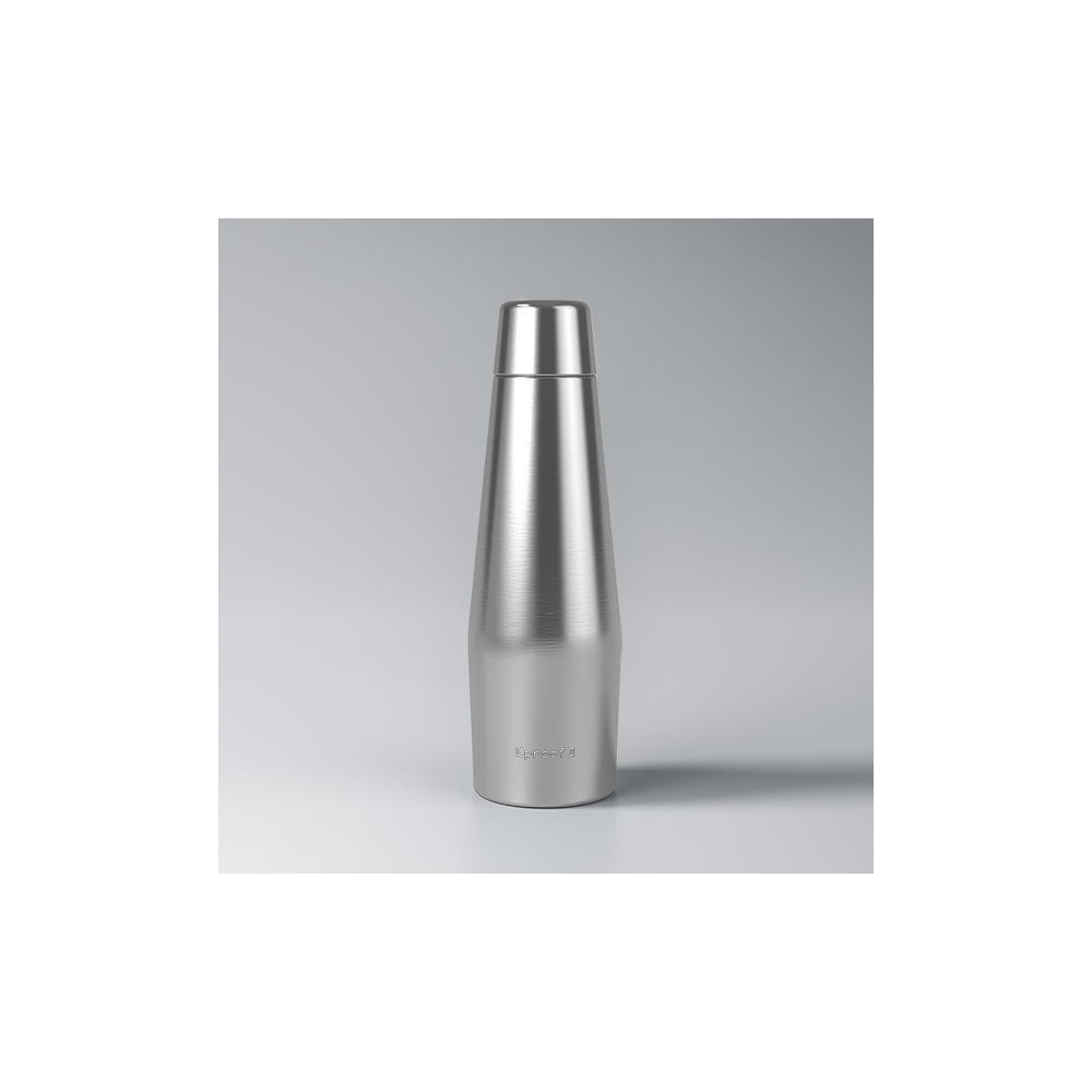 Image of Proof 18oz Double-Wall Vacuum Insulated Medical Grade Steel Water Bottle Silver