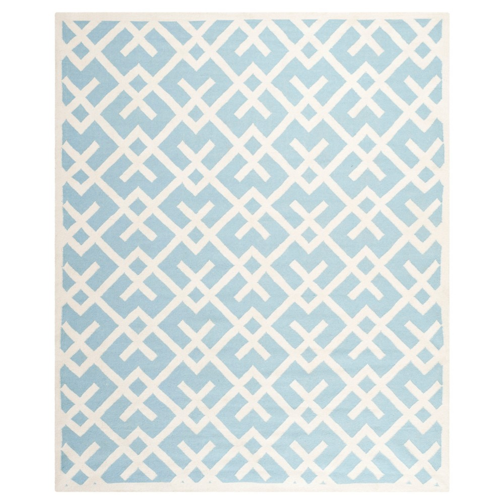 Tangier Dhurry Rug - Lite Blue/Ivory (9'X12') - Safavieh, Light Blue/Ivory