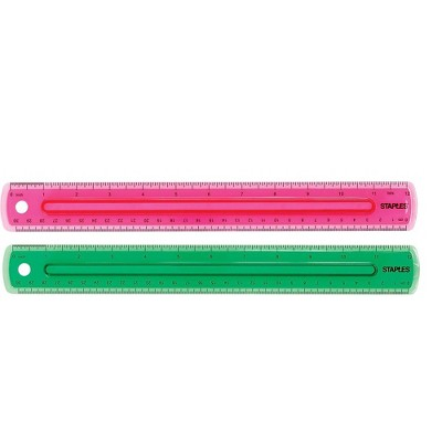 "Staples 12"" Imperial/Metric Scales Ruler (51885) 2772892"