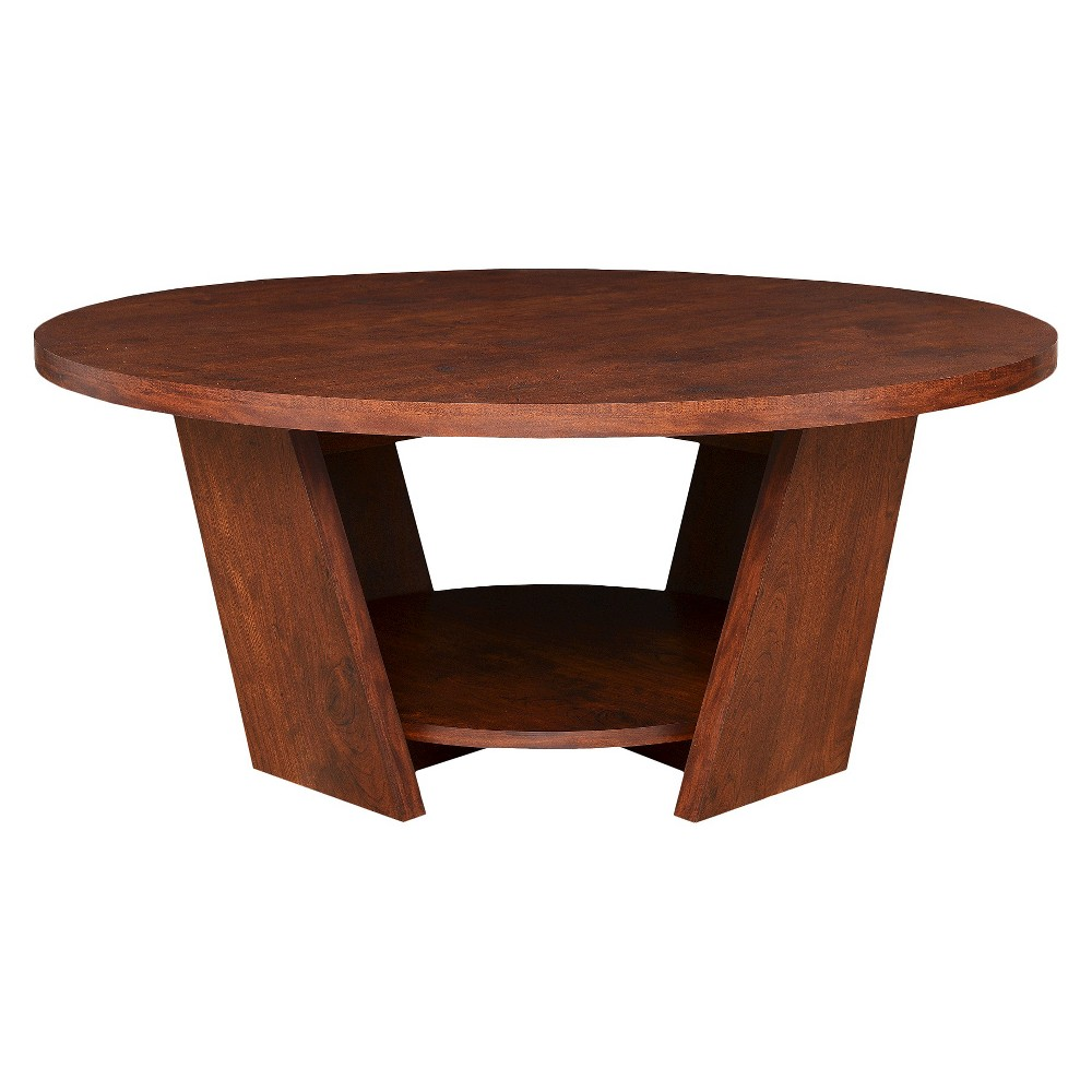 Gaia Coffee Table Walnut - Homes: Inside + Out, Canyon Brown