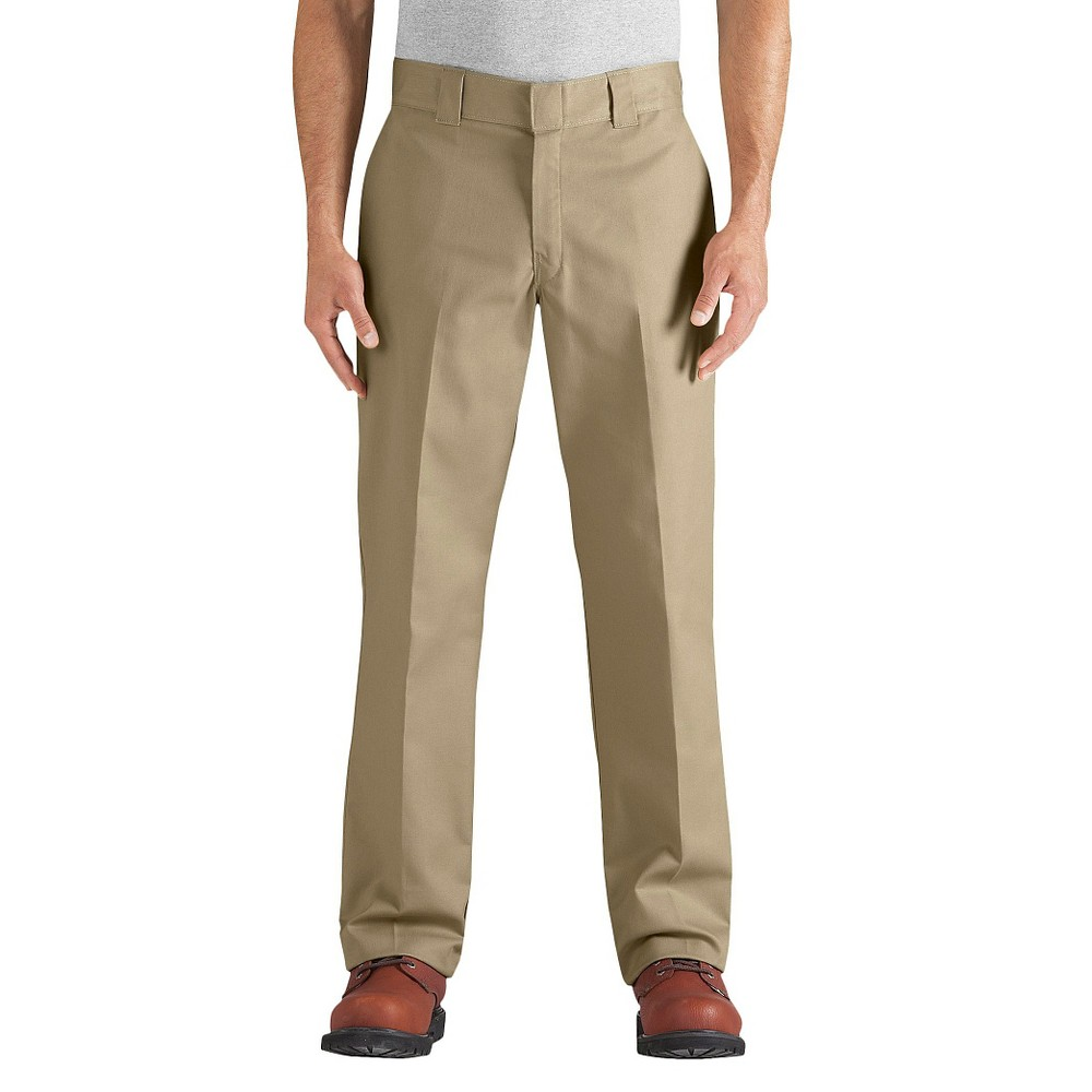 Dickies Men's Regular Straight Fit Flex Twill Pants- Desert Sand 38x34