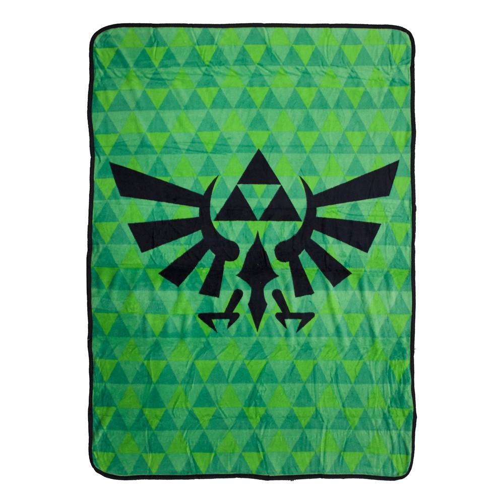 Nintendo Throw - Hyrule Crest, Green