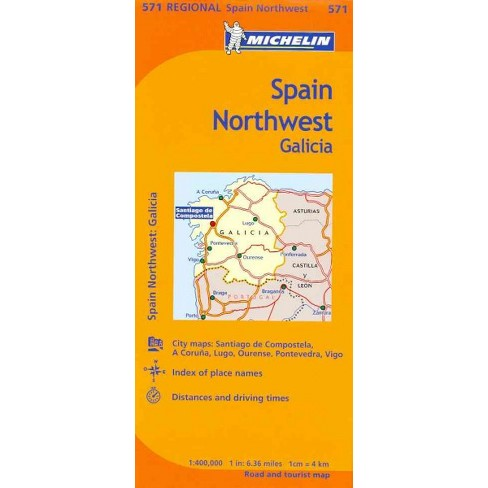 Map Of North West Spain.Michelin Map Spain Northwest Galicia Michelin Maps Paperback