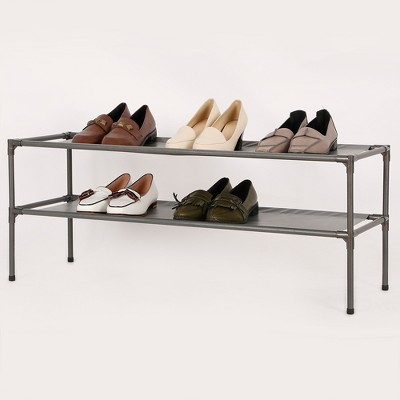 2-Tier Fabric Shoe Rack - Room Essentials™