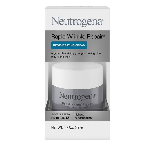 Neutrogena Rapid Wrinkle Repair Hyaluronic Acid & Retinol Cream - 1.7oz - image 1 of 4