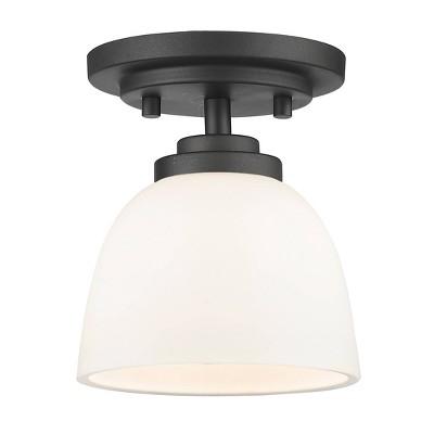 1 Light Flush Mount Bronze - Aurora Lighting