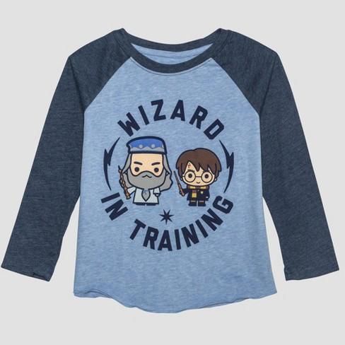 60691d90c45 Toddler Boys  Harry Potter Raglan Long Sleeve T-Shirt - Blue   Target