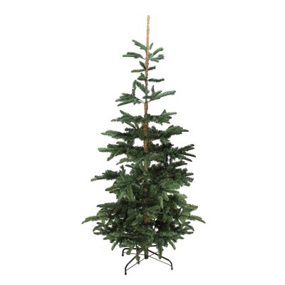 Northlight 7.5' Unlit Artificial Christmas Tree Slim Layered Noble Fir