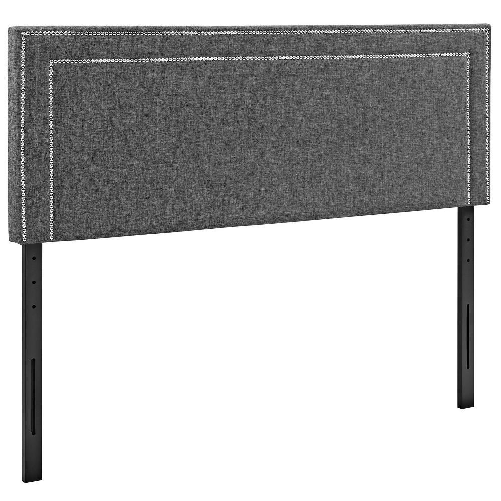 Jessamine King Upholstered Fabric Headboard Gray - Modway