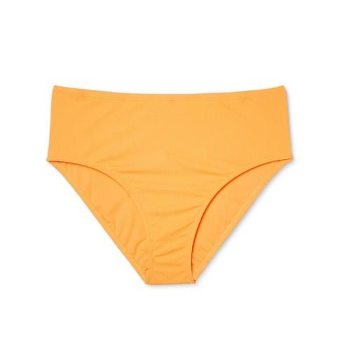 c0c2255c039 Women's Plus Size Textured High Waist Bikini Bottom - Xhilaration™ Marigold