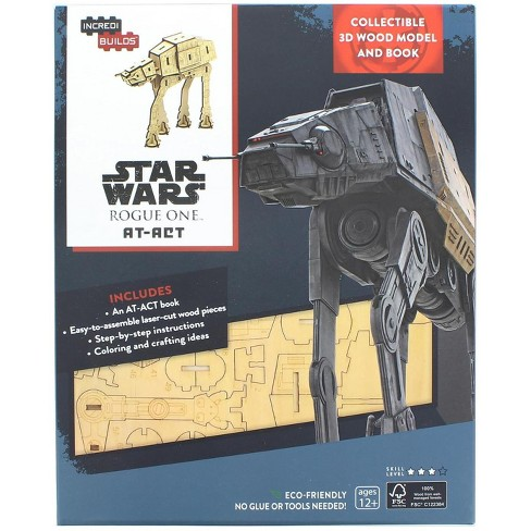 Geek Fuel c/o INDUSTRY RINO Star Wars Rogue One AT-ACT IncrediBuilds 3D Wood Model - image 1 of 3