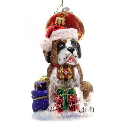 Christopher Radko Gentle Giant Saint Bernard Dog - image 1 of 2