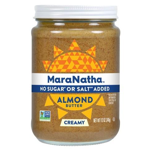 Maranatha No Added Sugar or Salt No Stir Almond Butter - 12oz - image 1 of 3