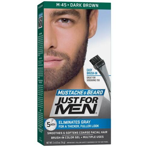 Just For Men Mustache and Beard Dark Brown M-45 : Target
