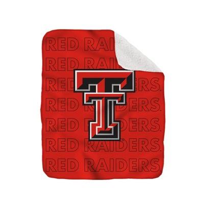 NCAA Texas Tech Red Raiders Collegiate Echo Wordmark Plush Throw Blanket