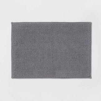 """17""""x24"""" Solid Bath Rug Dark Gray - Made By Design™"""