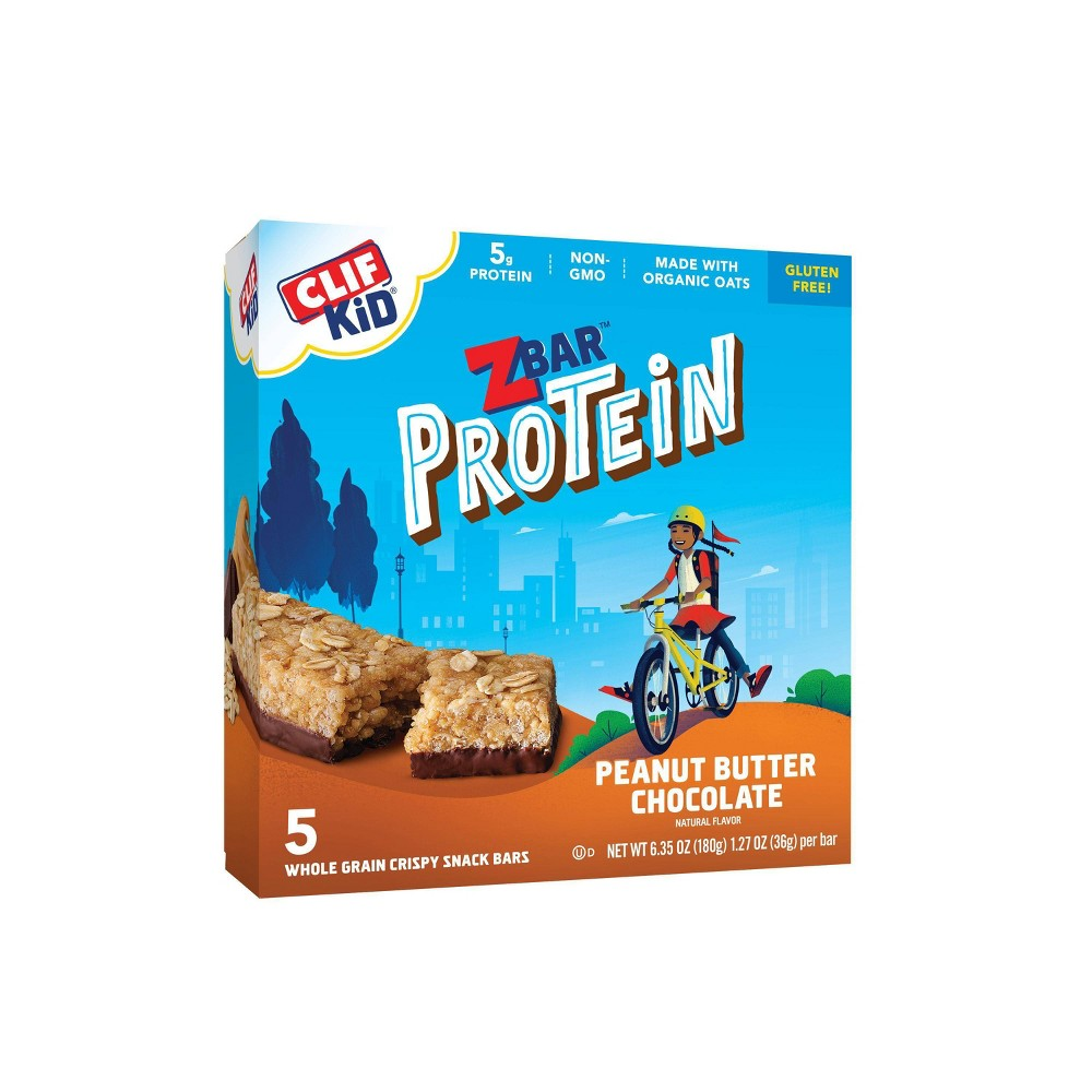 CLIF Kid ZBAR Protein Peanut Butter Chocolate Snack Bars - 5ct