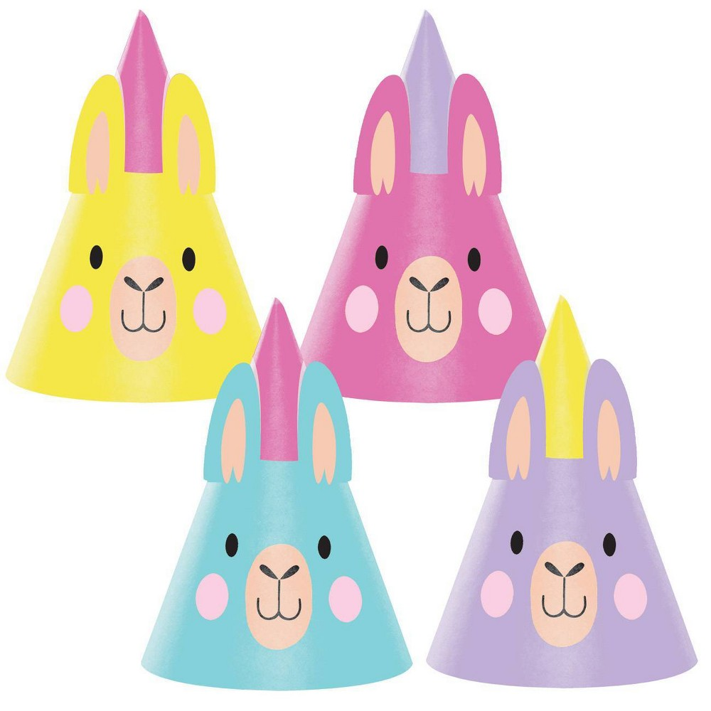 Image of 24ct Llama Party Hats, wearable party accessories