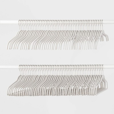 100pk Combo Hanger Suit/Shirt Hanger White - Made By Design™