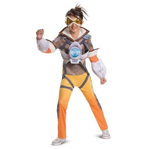 Girls' Overwatch Tracer Deluxe Halloween Costume - image 1 of 2