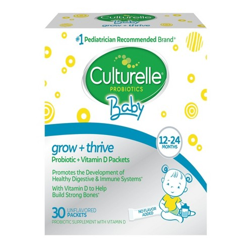 Culturelle Baby Grow + Thrive Probiotic + Vitamin D Packets 12-24 months - 30ct - image 1 of 4
