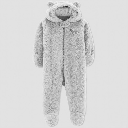 774bf85b59fc Baby Boys  Sherpa Fox Pram - Just One You® Made By Carter s Gray ...