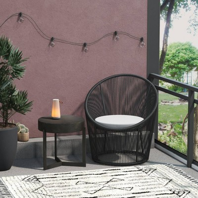 Taura Resin Rope Lounge Chair - CosmoLiving by Cosmopolitan