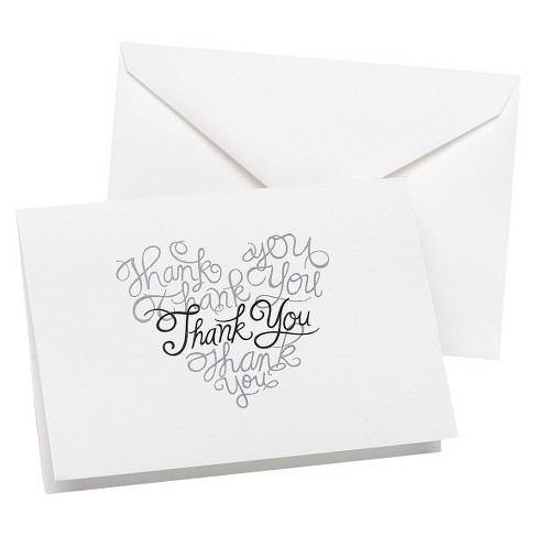 Love Letters Wedding Thank You Cards 50ct Target