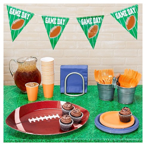 Football Tailgate Navy & Orange Party Pack - image 1 of 1