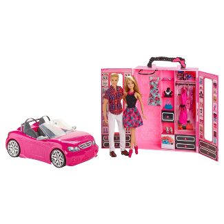 Barbie Ken Dress Up and Go Closet and Vehicle Giftset