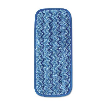 Rubbermaid Commercial FGQ82000BL00 Microfiber 13-3/4 in. x 5-1/2 in. x 1/2 in. Wall/Stair Wet Mopping Pad - Blue