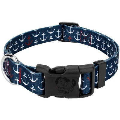 Country Brook Petz® Deluxe Anchors Away Dog Collar - Made in The U.S.A.