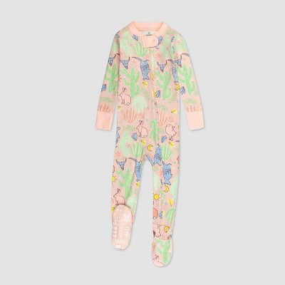 Honest Baby Girls' Cactus Organic Cotton Footed Pajama Set