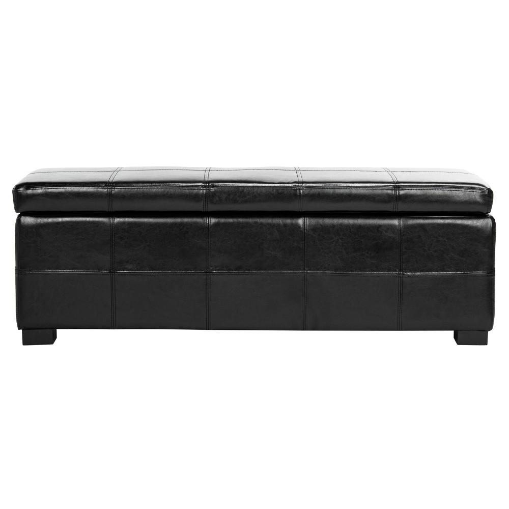 Storage Bench Blk - Safavieh, Black