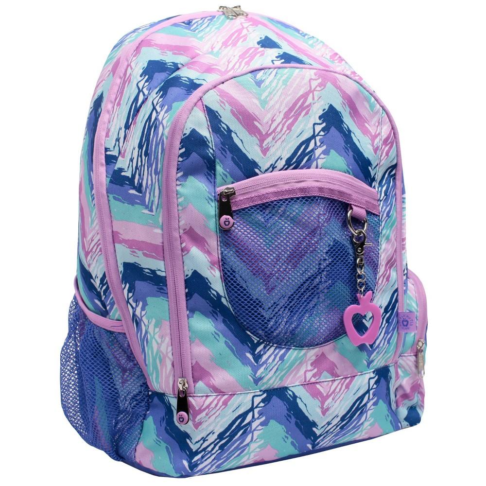 "Image of ""Double Dutch Club 18"""" Chevron Print Backpack - Purple, Size: Large"""
