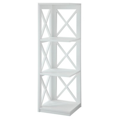 "38.5"" Oxford 3 Tier Corner Bookcase White - Breighton Home"